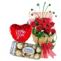 Roses,Ferrero Box & Love u Balloon To Philippines