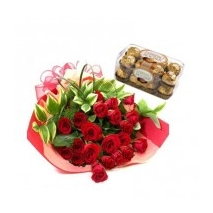 Roses Bouquet and Chocolate To Philippines
