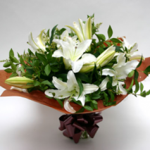 white lilies in a bouquet Delivery To Philippines