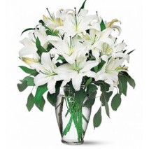 White Lilies in a Vase Delivery To Philippines