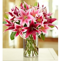 buy stylish pink lilys bouquet delivery in philippines