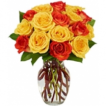 Yellow & Orange Rose Bouquet Send To Philippines