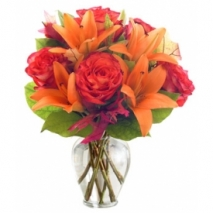 Orange Sherbet Bouquet Send To Philippines