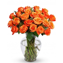 24 Orange Roses Send To Philippines