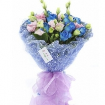 blue roses bouquet send to philippines