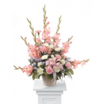Pink Gladiolus Arrangement Delivery To Philippines