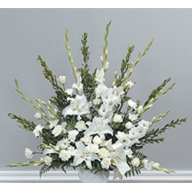 White Sympathy Arrangement Send To Philippines
