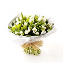 white Tulips and greenery Send To Philippines