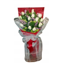 White Roses Send To Philippines