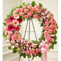 Chic Pink Wreath Send To Philippines