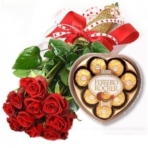 12 Red Rose bouquet with chocolate philippines