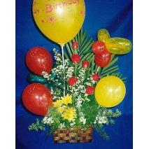 Balloons w/ 6pcs rose Send To manila