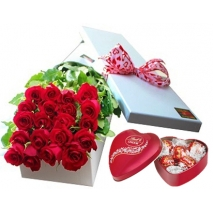 24 roses heart shaped box send to philippines