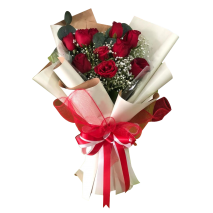buy 12 red roses bouquet philippines