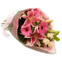 send pink flowers bouquet in philippines