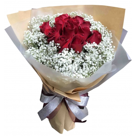send 12 red roses bouquet in philippines