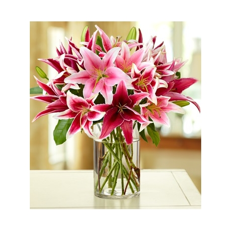 Stylish Pink Lily Bouquet  Delivery To Philippines