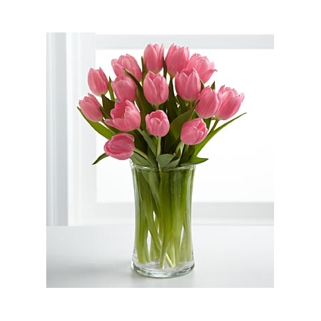 15 Pink Tulips Send To Philippines