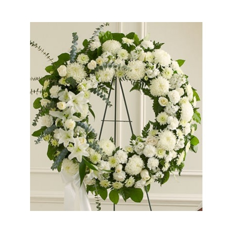 Heavenly Whites Wreath Send To Philippines