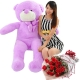 rose bouquet with 5 feet giant teddy bear to philippines
